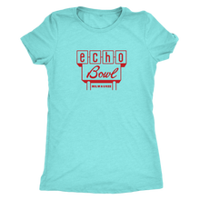 Echo Bowl Vintage Tee Women's in color light turquoise