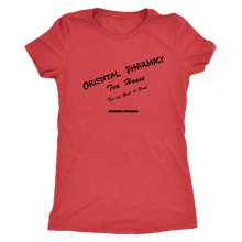 Oriental Pharmacy Lunch Counter Vintage Tee Women's in color vintage red