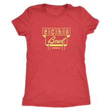 Echo Bowl Glendale Vintage Tee in Retro Yellow Women's in color vintage red