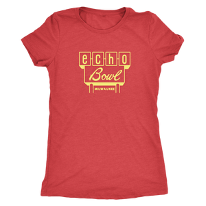 Echo Bowl Vintage Tee in Retro Yellow Women's in color vintage red
