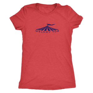 Melody Top Vintage Tee in Special Edition Navy Women's in color vintage red