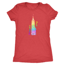 Milwaukee Pride City Hall Tee Women's in color vintage red