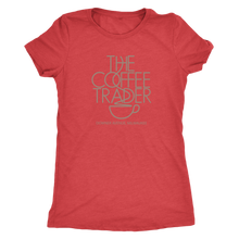 The Coffee Trader Vintage Tee Women's in color vintage red