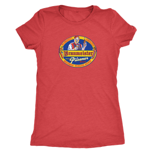 Independent Milwaukee Brewery Braumeister Pilsner Vintage Tee Women's in color vintage red