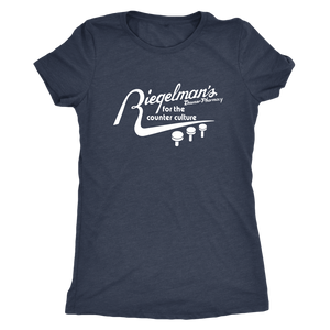 Riegelman's Downer Pharmacy Vintage Tee Women's in color vintage navy