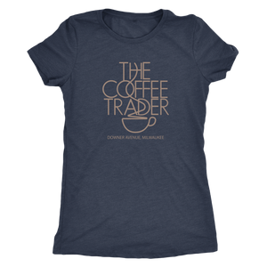 The Coffee Trader Vintage Tee Women's in color vintage navy