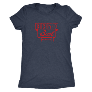 Echo Bowl Vintage Tee Women's in color vintage navy