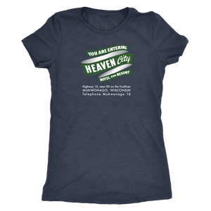 Heaven City Hotel Vintage Tee Women's in color vintage navy