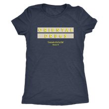 Oriental Drugs Vintage Tee Women's in color vintage navy