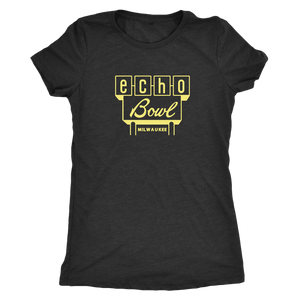 Echo Bowl Vintage Tee in Retro Yellow Women's in color vintage black