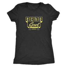 Echo Bowl Glendale Vintage Tee in Retro Yellow Women's in color vintage black