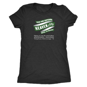 Heaven City Hotel Vintage Tee Women's in color vintage black