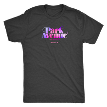 Park Avenue Milwaukee vintage t-shirt men's with colorful logo in vintage black tee.