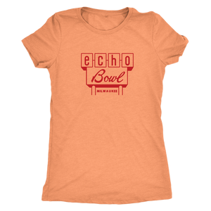 Echo Bowl Vintage Tee Women's in color light orange
