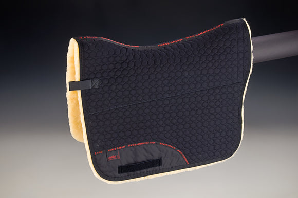 Christ Lambskin Baroque Saddle Pad Black