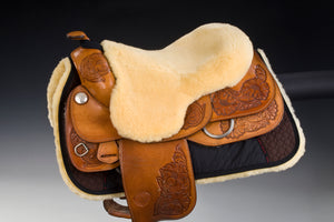 Western Saddle Fur Seat Cover