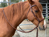 bitless braided noseband DP Soft Feel headstall