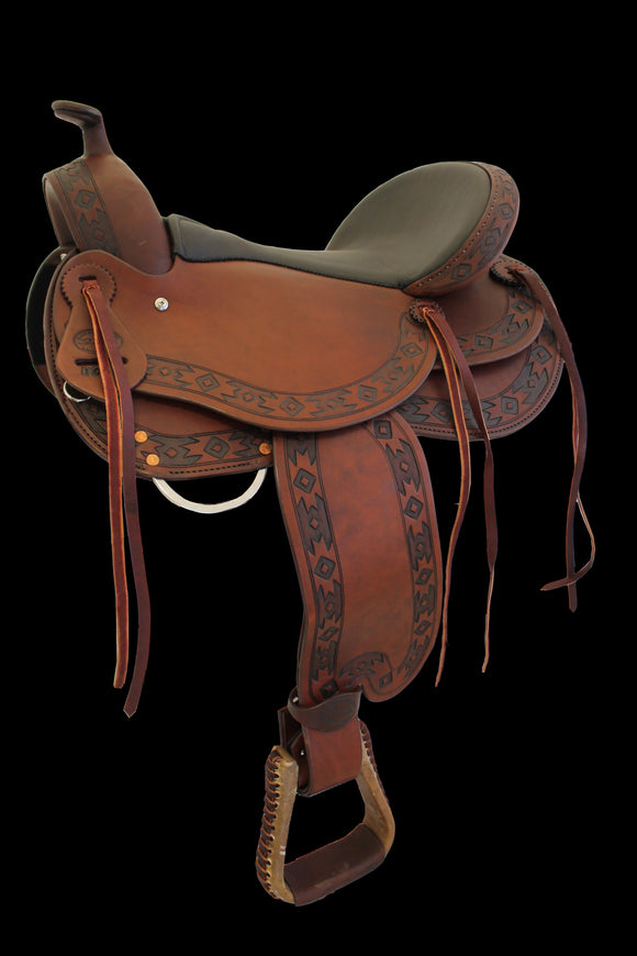 DP Startrekk Treeless Western Saddle