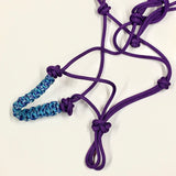KJFH 2-Knot Rope Halter with Braided Noseband