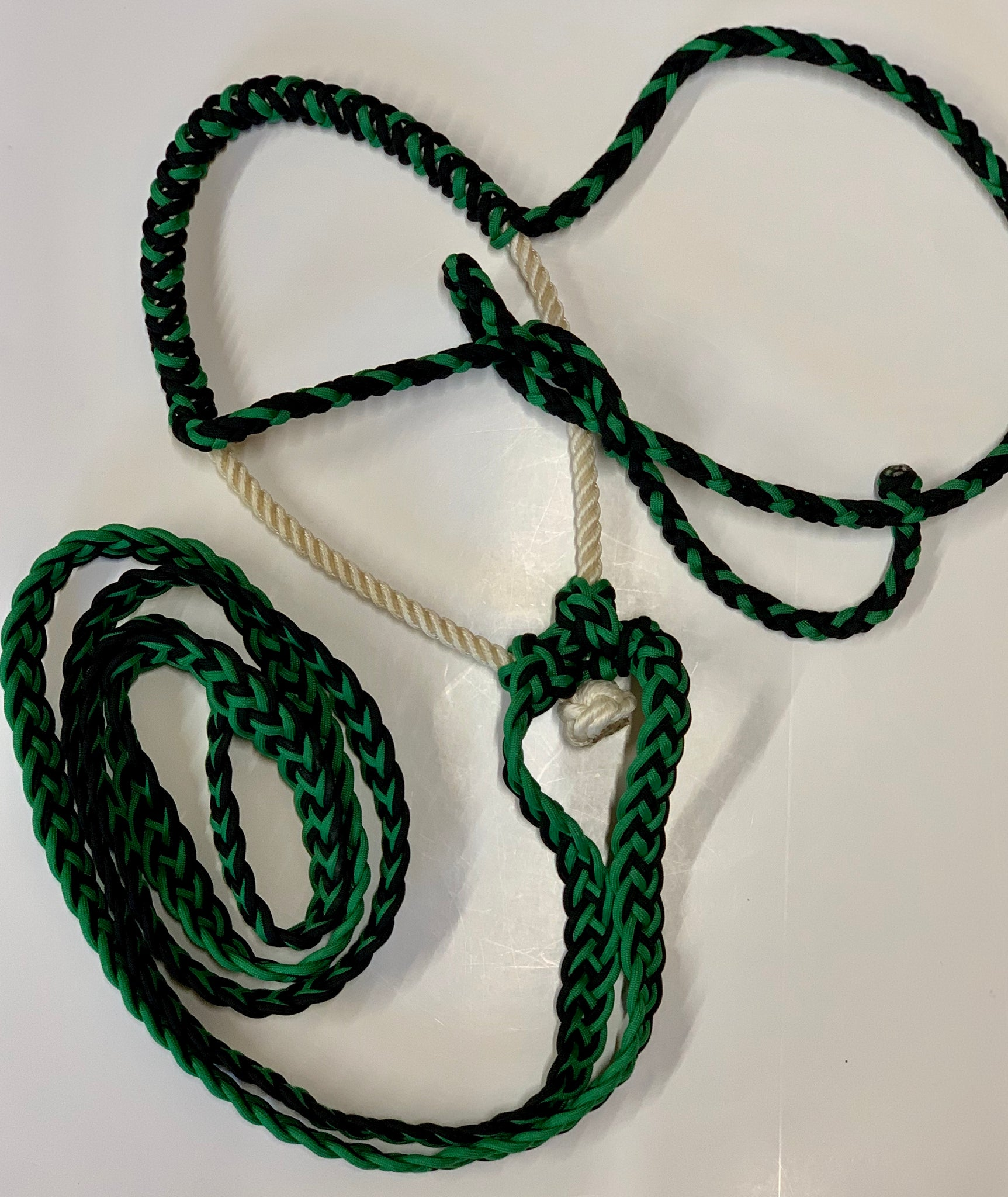 New Handmade Lariat Rope LopingTraining Hackamore Bridle w Knots Fully rigged /& ready to ride!