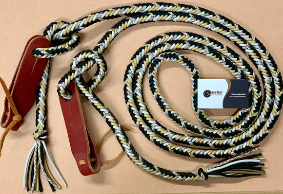 paracord braided reins