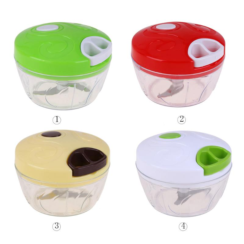 Hand-Held Manual Stainless-Steel Food Chopper