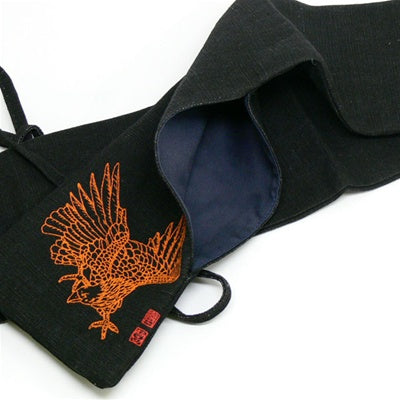 Japanese Canvas Eagle Shinai bag - Black