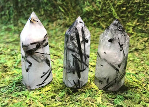 Black Tourmalated Quartz Towers