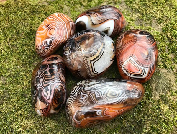 Madagascar Banded Agate Palm Stones