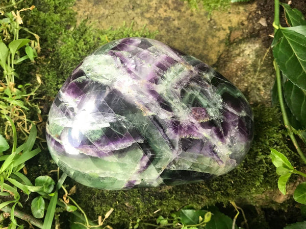 Rainbow Fluorite Over-sized Tumbled Stone ~ XXL - Gem Realm
