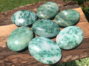 Green Kyanite Palm Stones - Gem Realm