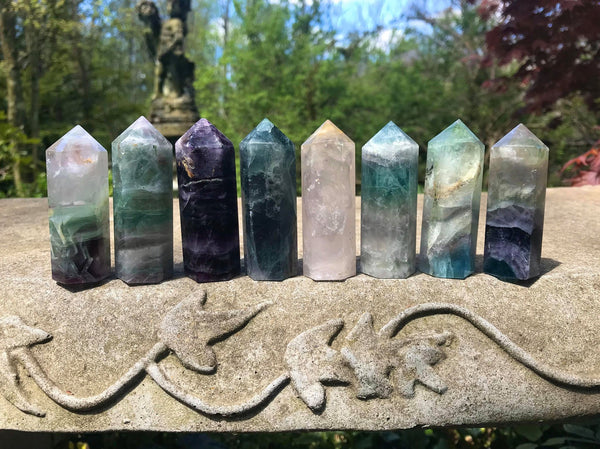 Rainbow Fluorite Towers ~ Medium II - Gem Realm