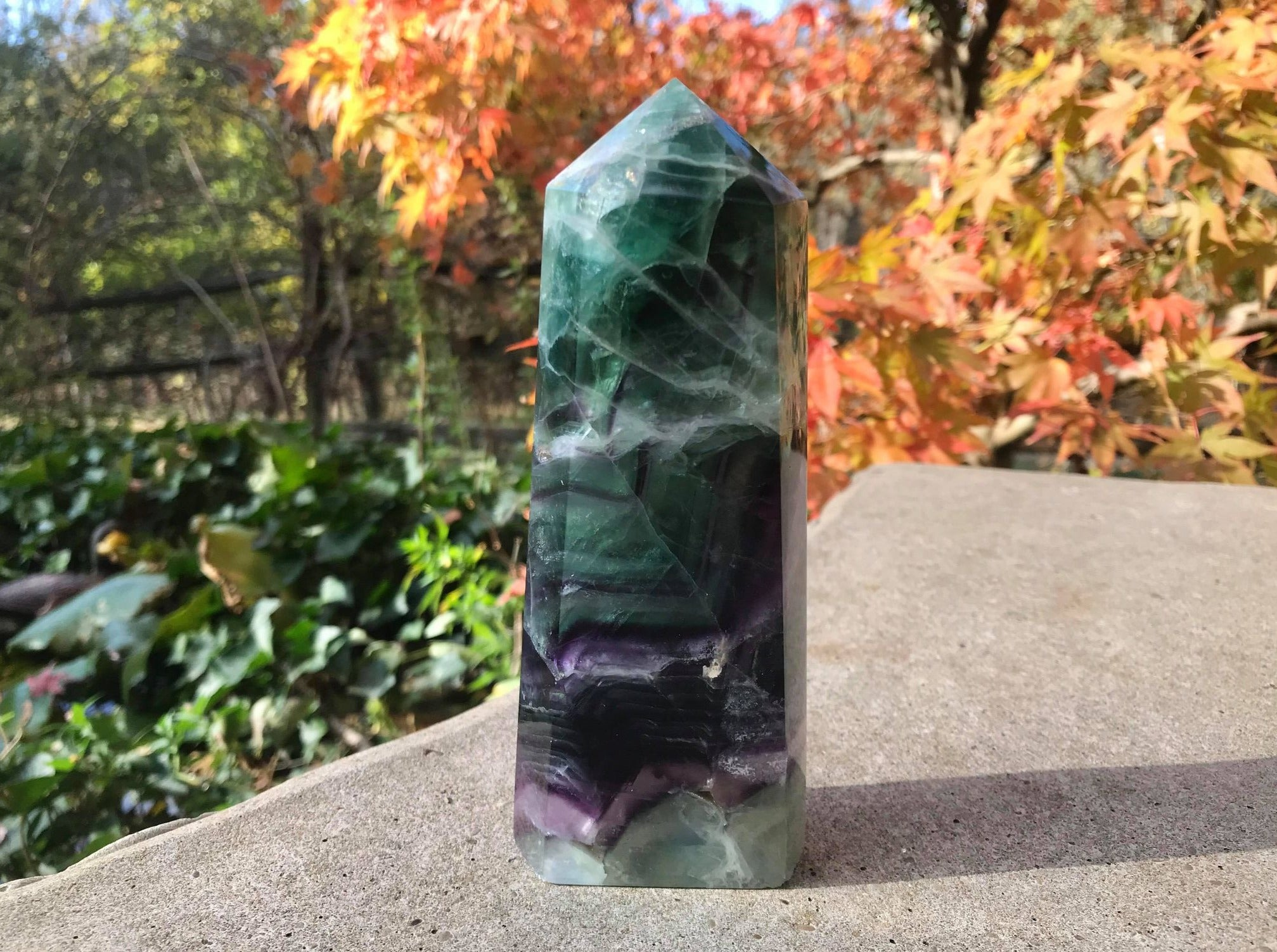 Rainbow Fluorite Tower ~ Extra Large