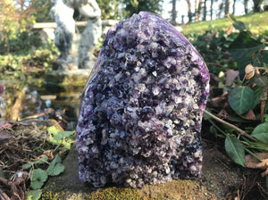 Amethyst Geode with Calcite ~ Large