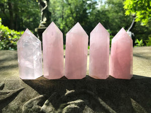 Rose Quartz Towers ~ Medium ~ Large - Gem Realm