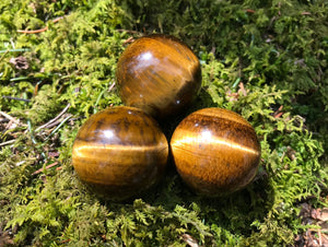 Tiger's Eye Spheres - Gem Realm