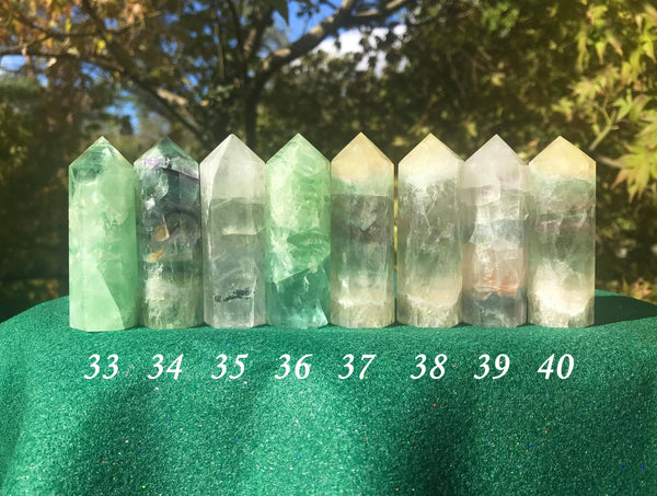 Rainbow Fluorite Towers ~ Medium