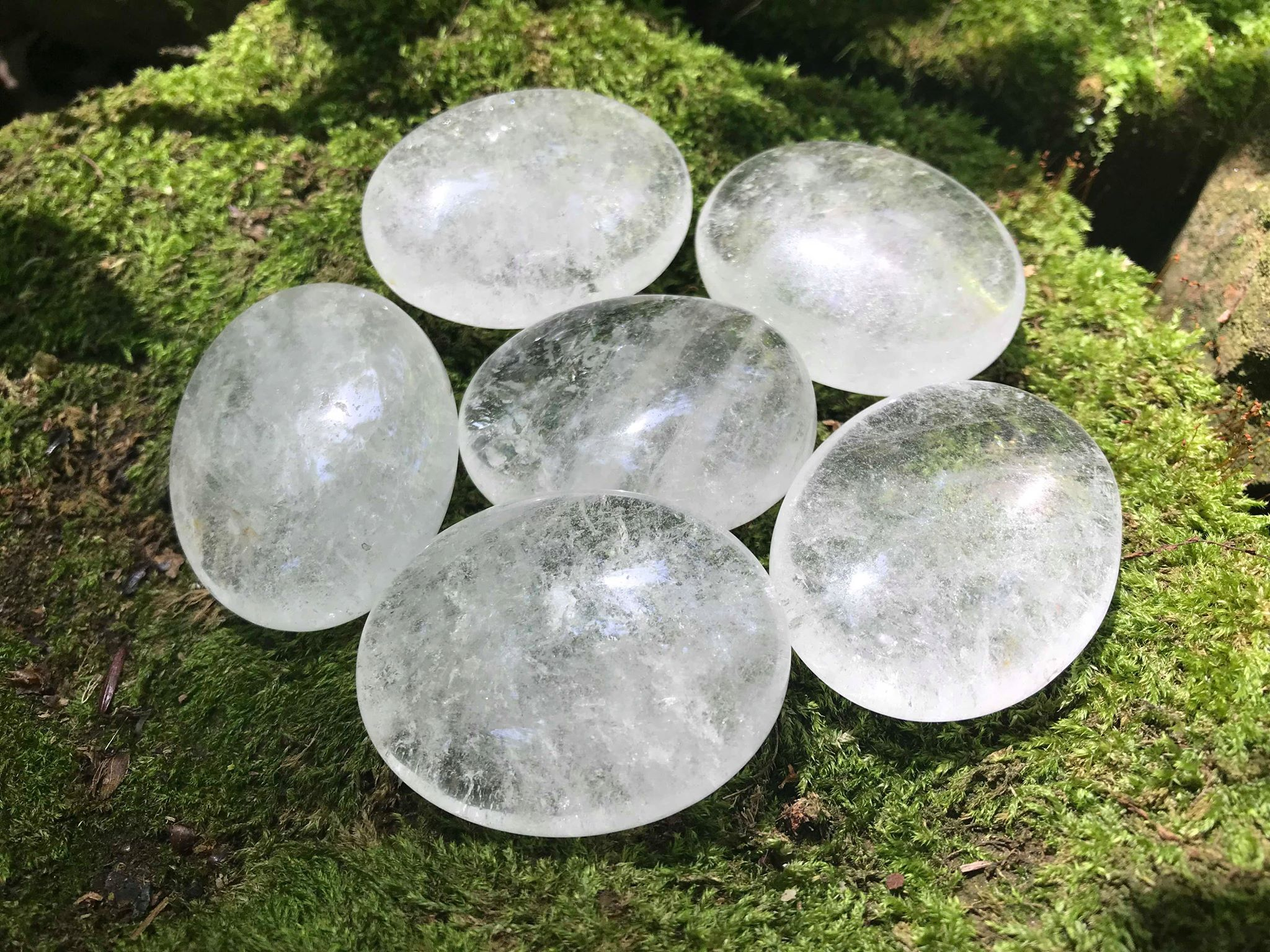 Quartz Crystal Palm Stones - Gem Realm