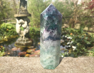 Rainbow Fluorite Tower ~ Large - Gem Realm