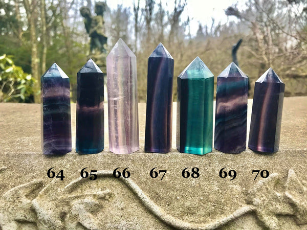 Rainbow Fluorite Towers - Gem Realm