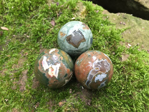 Rhyolite Spheres ~ Rainforest Jasper - Gem Realm