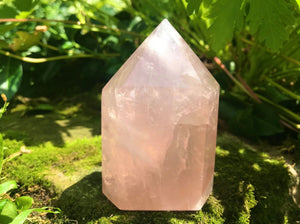 Rose Quartz Tower ~ Large - Gem Realm