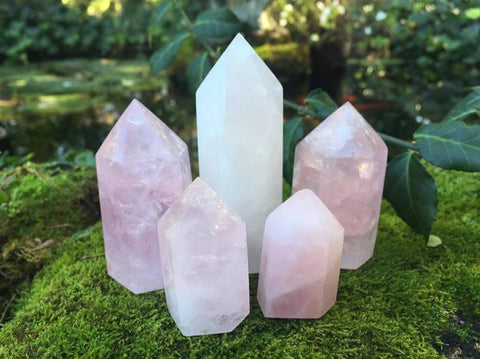 Rose Quartz Towers ~ Small ~ Medium - Gem Realm