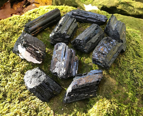 Black Tourmaline Specimens - Gem Realm
