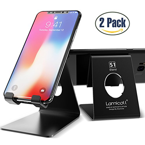 1b08d3065c2e3 Lamicall Mobile Phone Stand    2 Pack  Desktop Holder Cradle