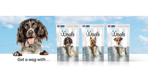 Woofs dog treats with pure natural cod