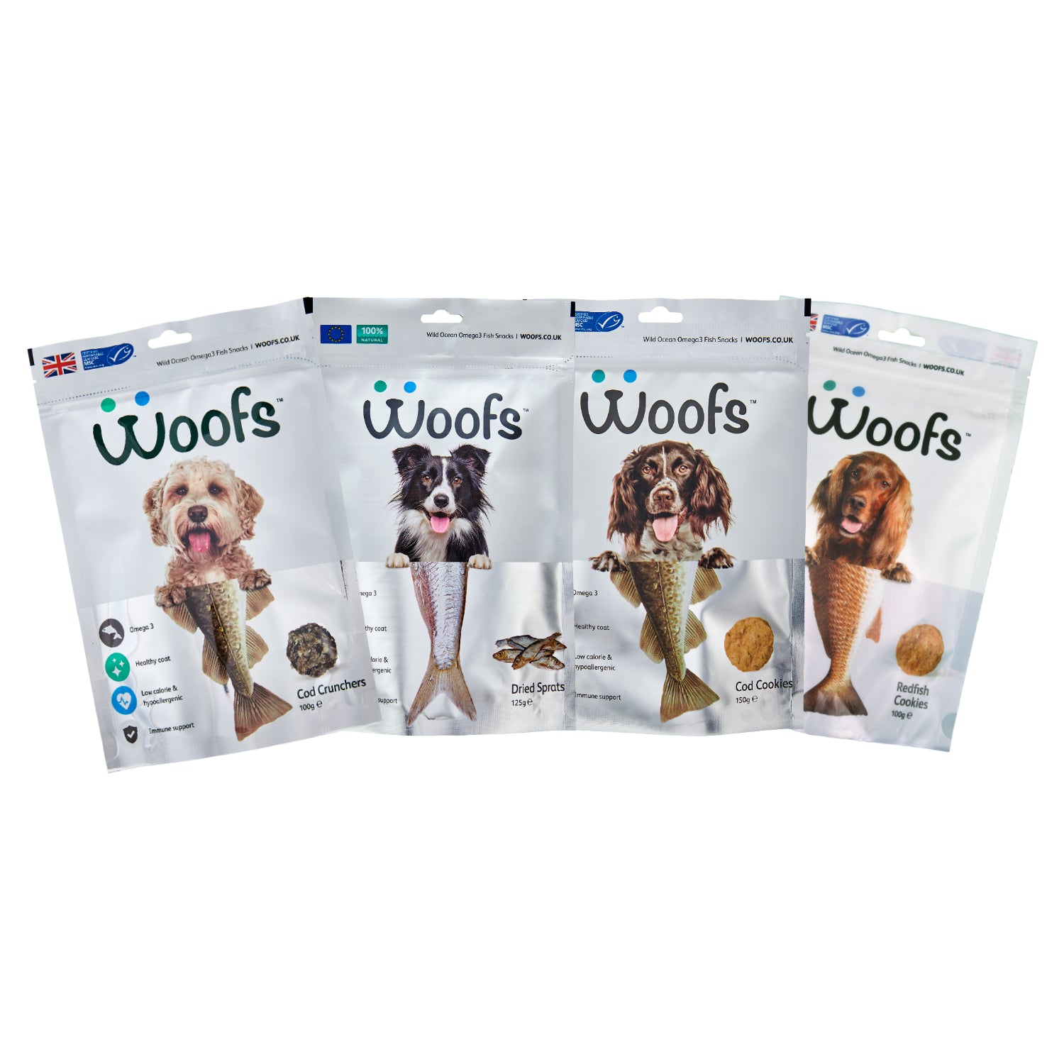 Mixed New Treat Trial (4 pouches) - WOOFS
