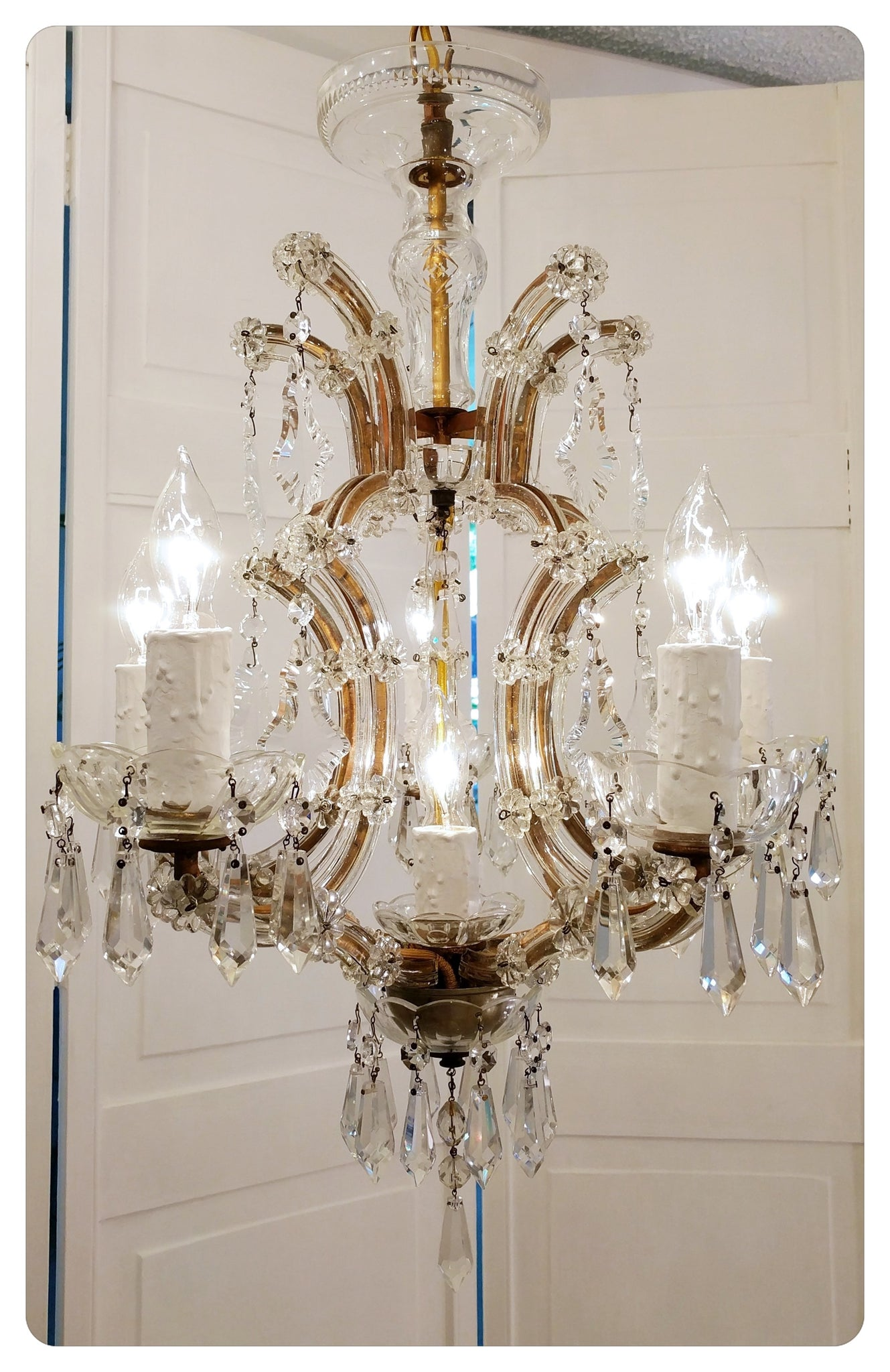... french 1920s marie therese antique chandelier crystal lighting