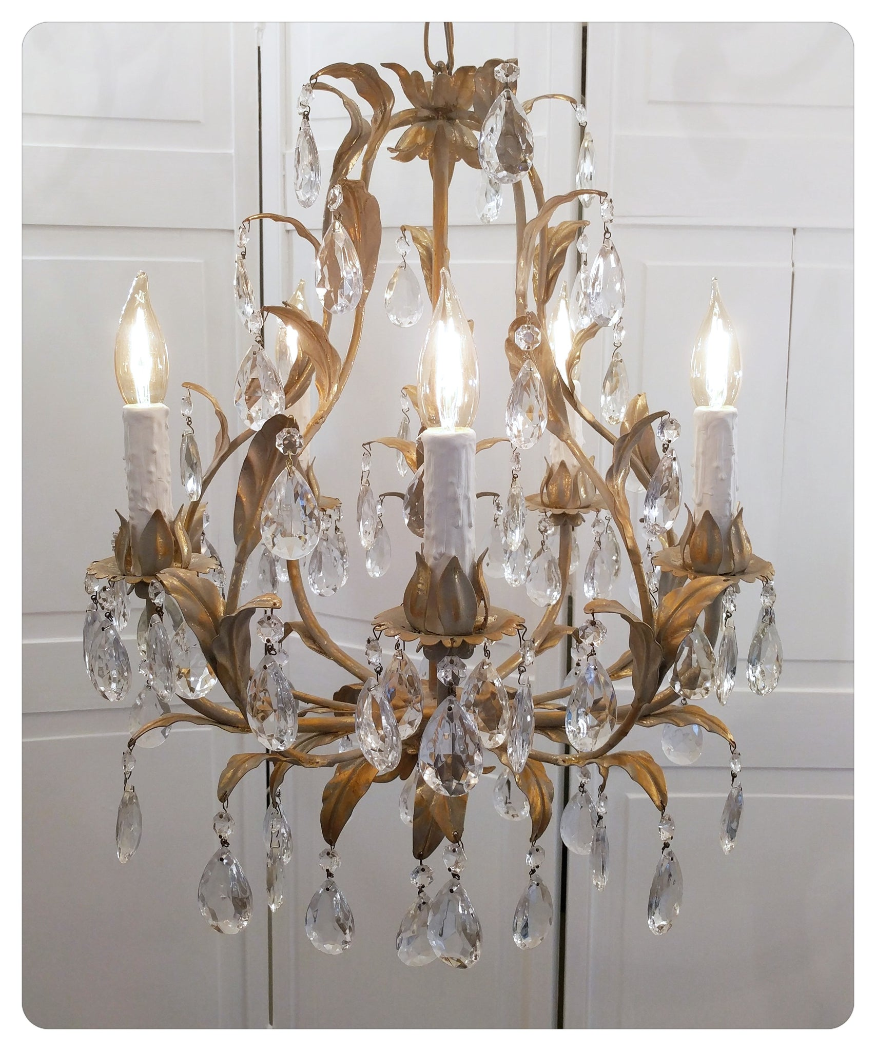 Italian tole chandelier gilt gold antique vintage lighting italian tole chandelier gilt gold antique vintage lighting mendlbarr mozeypictures Image collections