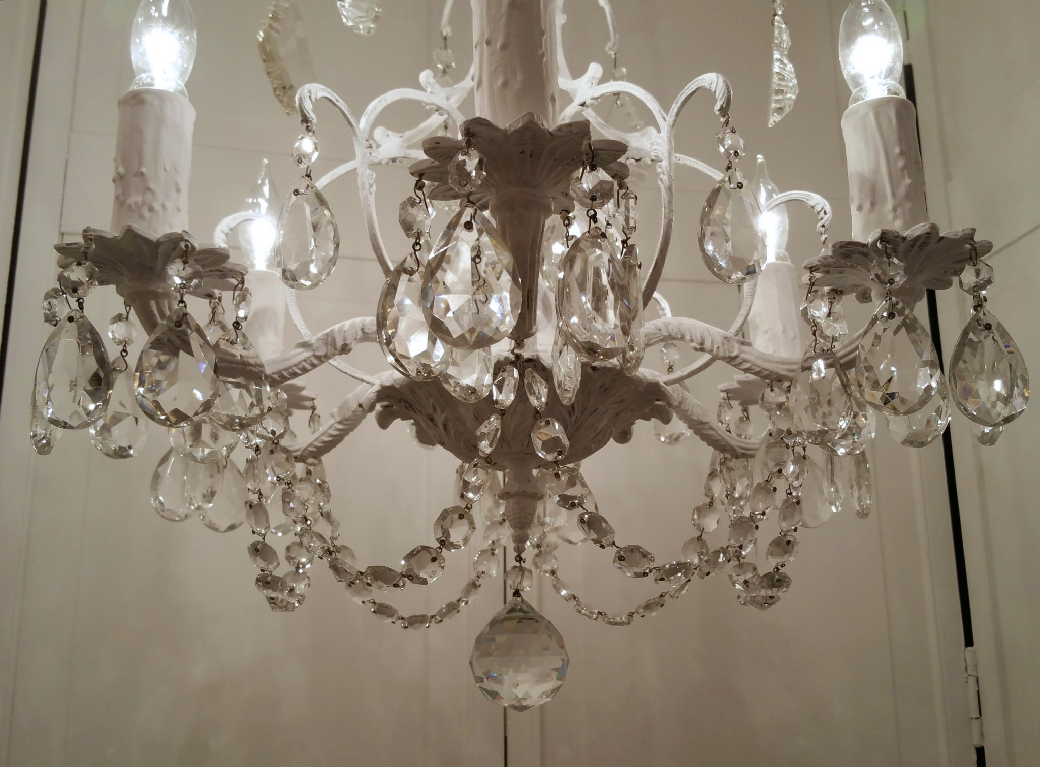 chandelier products crystal light clear shades lighting round of